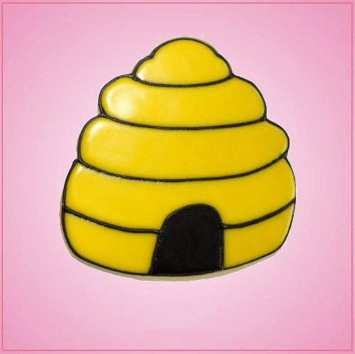 Pink Bee Hive Cookie Cutter