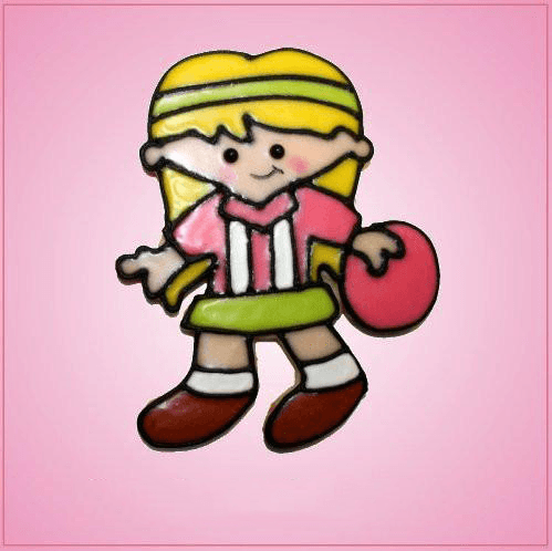 Pink Betsy The Bowling Girl Cookie Cutter