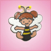 Pink Bonnie Bee Girl Cookie Cutter