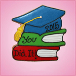 Pink Books With Grad Cap Cookie Cutter