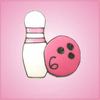 Pink Bowling Pin and Ball Cookie Cutter
