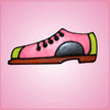 Pink Bowling Shoe Cookie Cutter