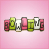 Pink Bowling Sign Cookie Cutter