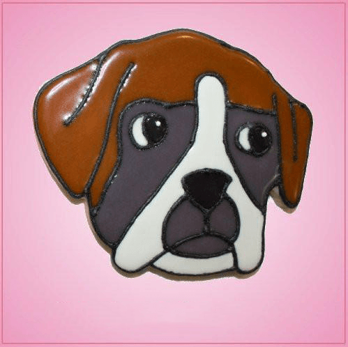 Pink Boxer Dog Edster Cookie Cutter