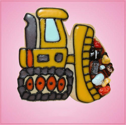 Pink Bulldozer Cookie Cutter