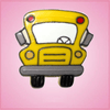 Pink Bus Front View Cookie Cutter