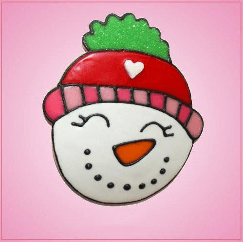 Pink Caliope Snowman Head Cookie Cutter