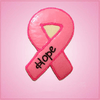 Pink Detailed Cancer Awareness Ribbon Cookie Cutter