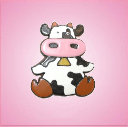 Pink Carrie Cow Cookie Cutter