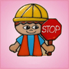 Pink Carson Construction Worker Cookie Cutter