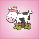 Pink Cassidy Cow Cookie Cutter