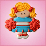 Pink Cheerleader Cookie Cutter