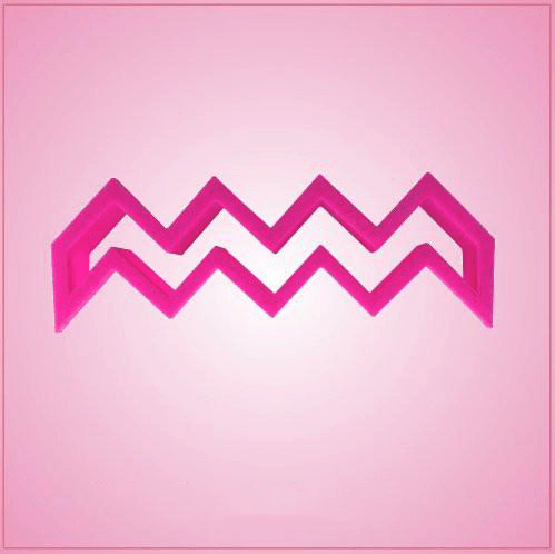 Pink Chevron Stripe Cookie Cutter