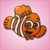 Pink Clyde Clownfish Cookie Cutter