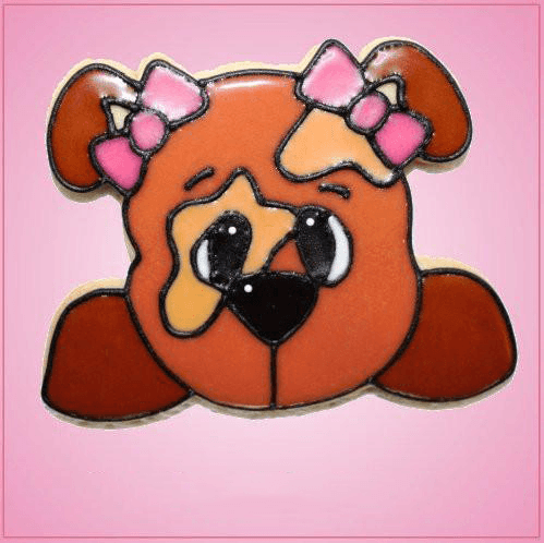 Pink Diane Dog Cookie Cutter