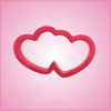 Pink Double Heart Cookie Cutter