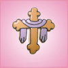 Pink Draped Cross Cookie Cutter