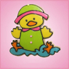 Pink Dudley Duck Cookie Cutter