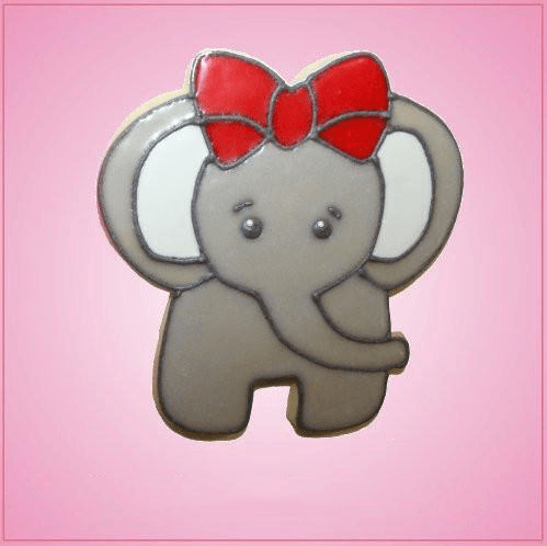 Pink Ellie Elephant Cookie Cutter