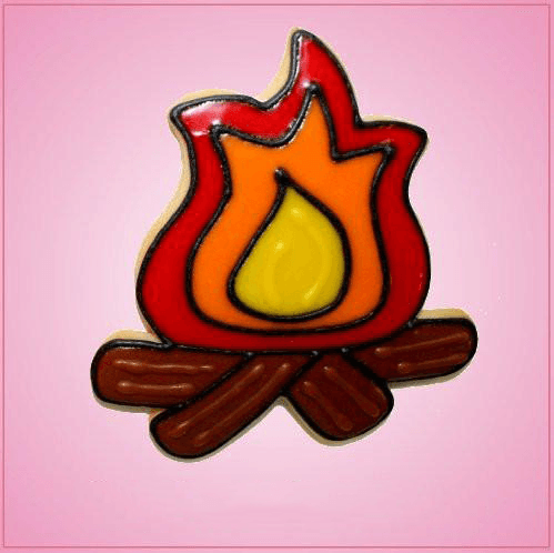 Pink Fire Pit Cookie Cutter