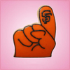 Pink Foam Finger Cookie Cutter