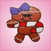 Pink Ginger the Gingerbread Girl with Candy Cane Cookie Cutter