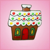 Pink Gingerbread House Cookie Cutter