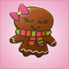 Pink Ginny Gingerbread Girl With Bow Cookie Cutter