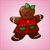 Pink Giselle Gingerbread Girl With Apron Cookie Cutter