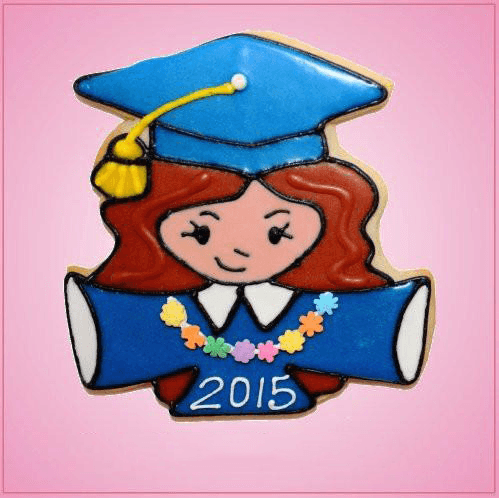 Pink Gloria Grad Girl Cookie Cutter