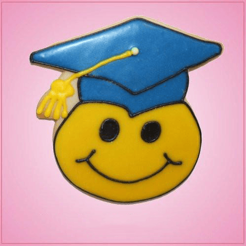 Pink Grad Smiley Cookie Cutter
