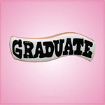 Pink Graduate Sign Cookie Cutter
