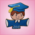 Pink Gregory Grad Boy Cookie Cutter