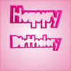 Pink Happy Birthday Cookie Cutter Set