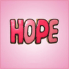 Pink Hope Cookie Cutter