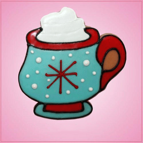 Pink Hot Cocoa with Whip Cream Cookie Cutter