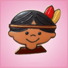 Pink Irik Indian Boy Cookie Cutter
