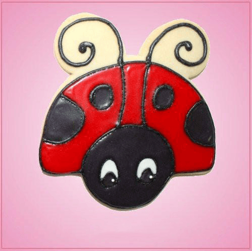 Pink Ladybug Face Front Cookie Cutter