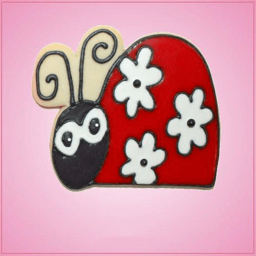 Pink Ladybug Side View Cookie Cutter