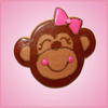 Pink Mandy Monkey With Bow Cookie Cutter
