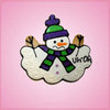 Pink Marvin the Melting Snowman Cookie Cutter