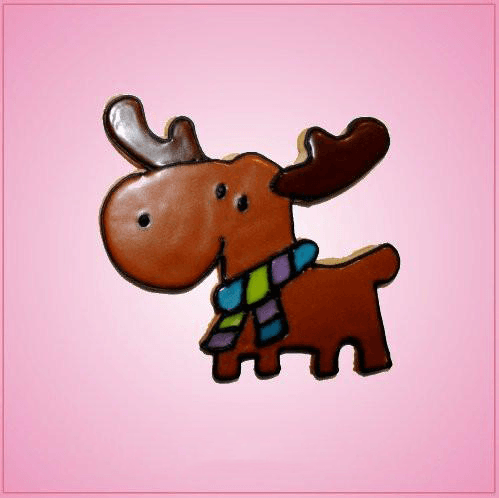 Pink Melissa Moose Cookie Cutter