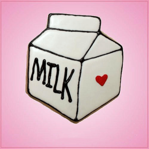 Pink Milk Carton Cookie Cutter
