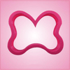 Pink Polka Dot Hair Bow Cookie Cutter