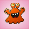 Pink Monster Glop Cookie Cutter