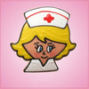 Pink Nancy Nurse Cookie Cutter