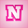 Pink Navy Letter N Cookie Cutter