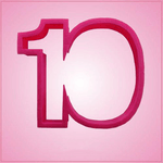 Pink Number 10 Cookie Cutter