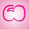 Pink Number 60 Cookie Cutter