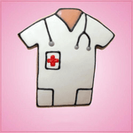 Pink Nurse Shirt Cookie Cutter